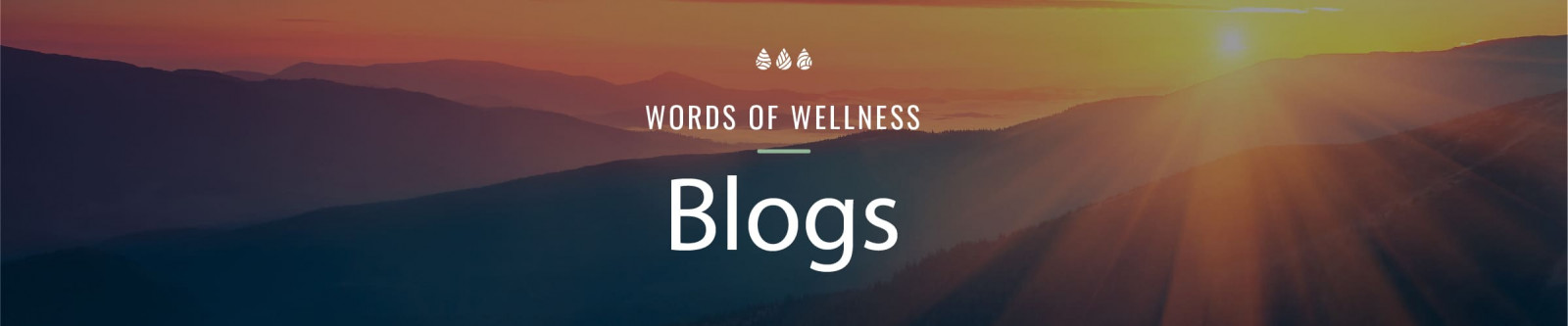 words of wellness words over nature landscape