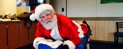 Banner Image for Santa Claus is Coming to Town....(as soon as he has a massage...)
