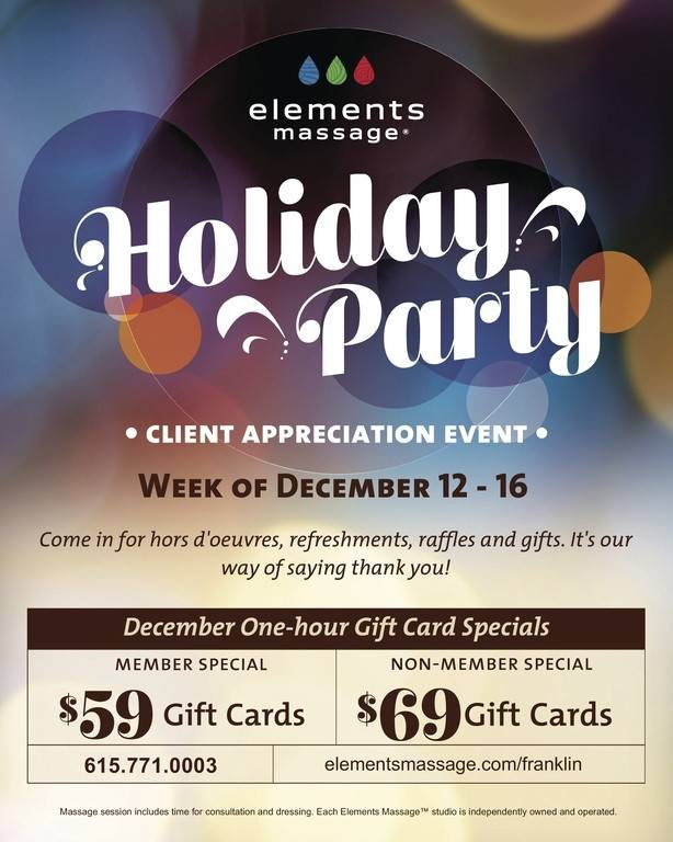 Banner Image for Elements Massage in Franklin Celebrates 3 years with Customer Appreciation Week