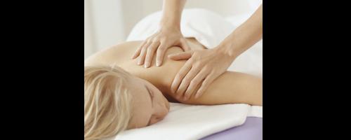 image of woman getting massage