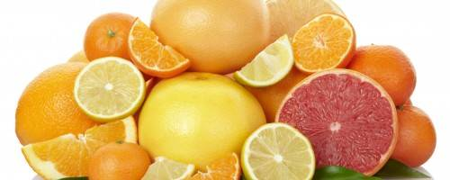 Picture of delicious oranges, grapefruits, tangerines, lemons and limes
