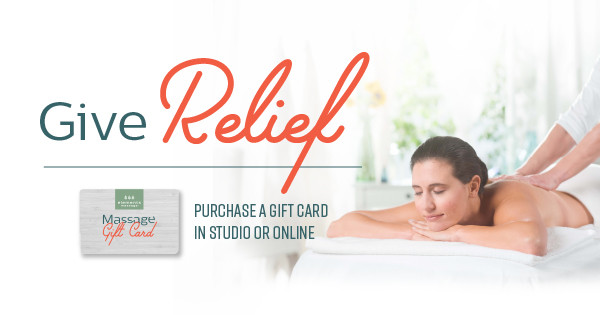 Give relief - give a massage!