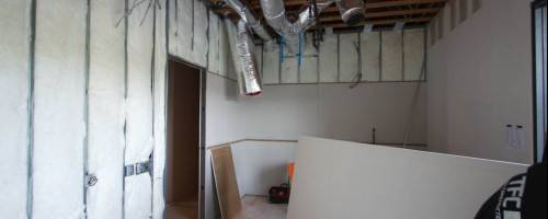 Banner Image for Drywall up and taped.....