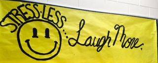 Banner Image for LOOK STRESS IN THE FACE AND LAUGH AT IT!