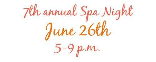 Banner Image for You're Invited! Annual Spa Night Event