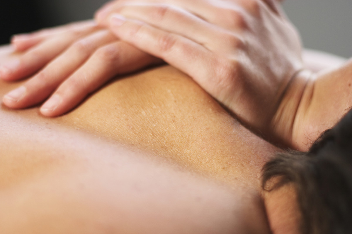 close up of massage