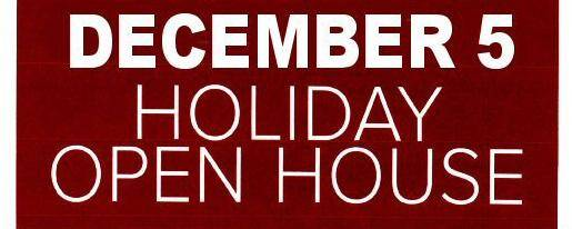 Banner Image for SAVE THE DATE: Wednesday, December 5th OPEN HOUSE