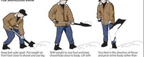 Snow Shovelling Technique