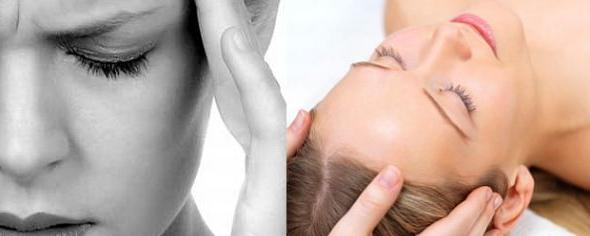 Massage relieves migraines