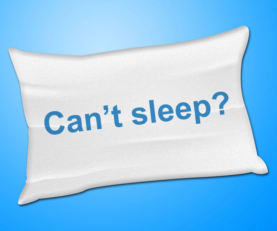 pillow with words can't sleep