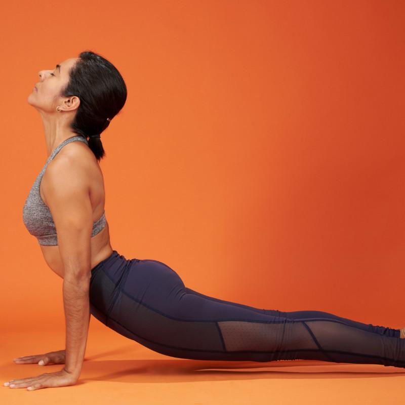 woman in upward facing dog pose