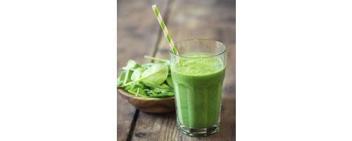 image of a healthy green smoothy drink