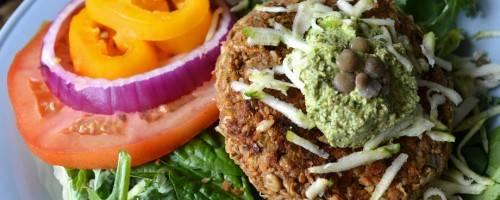 Banner Image for Heart Healthy, Cholesterol-free Zucchini Lentil Veggie Burger