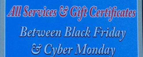 Banner Image for Black Friday Weekend Special
