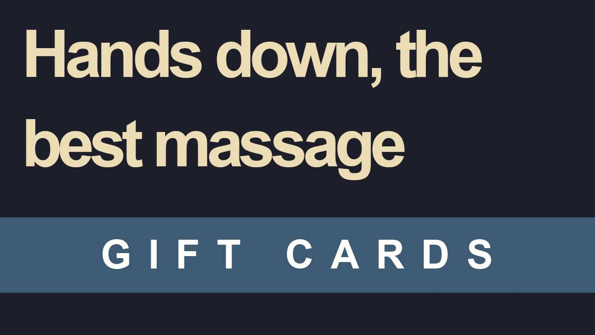 Gift cards from Elements Massage