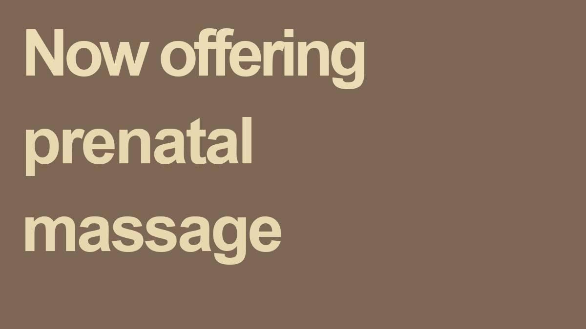 prenatal massage at elements massage