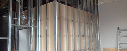 massage studio under construction