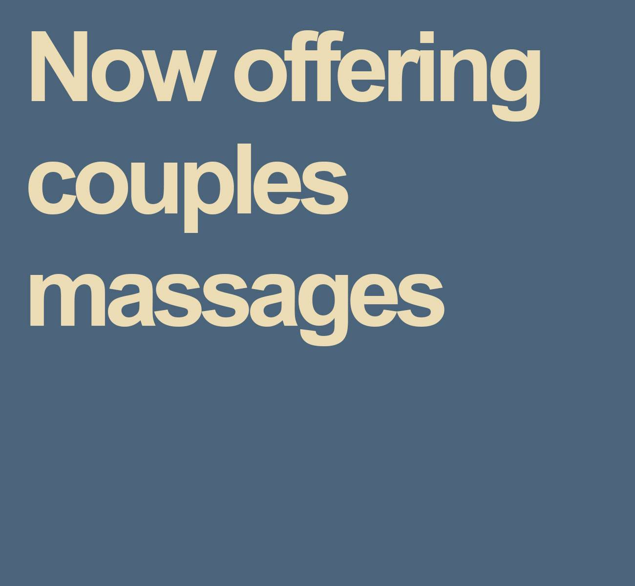 Elements Couples Massage