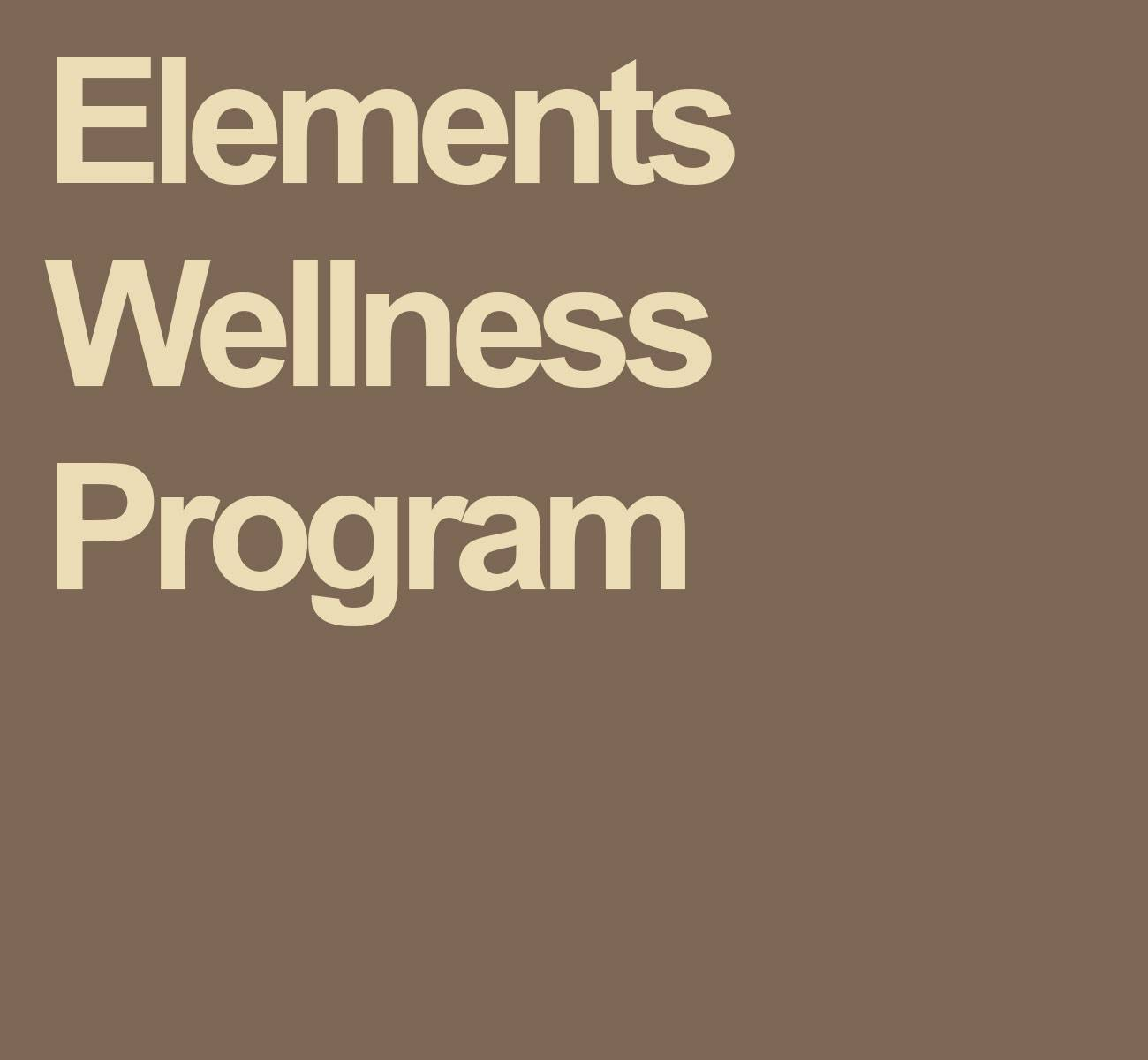 elements wellness program