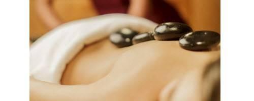 Image of hot-stone massage session