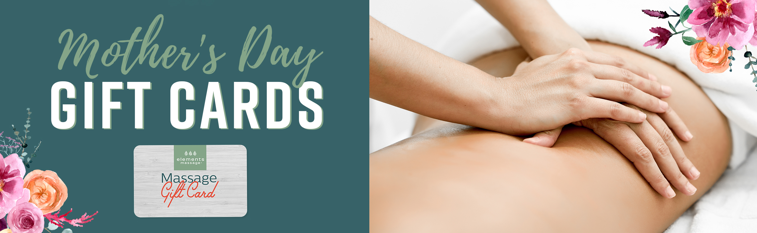 Mother's Day Gift Cards at Elements Massage